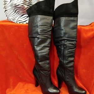 Jessica Simpson knee/thigh high black boot